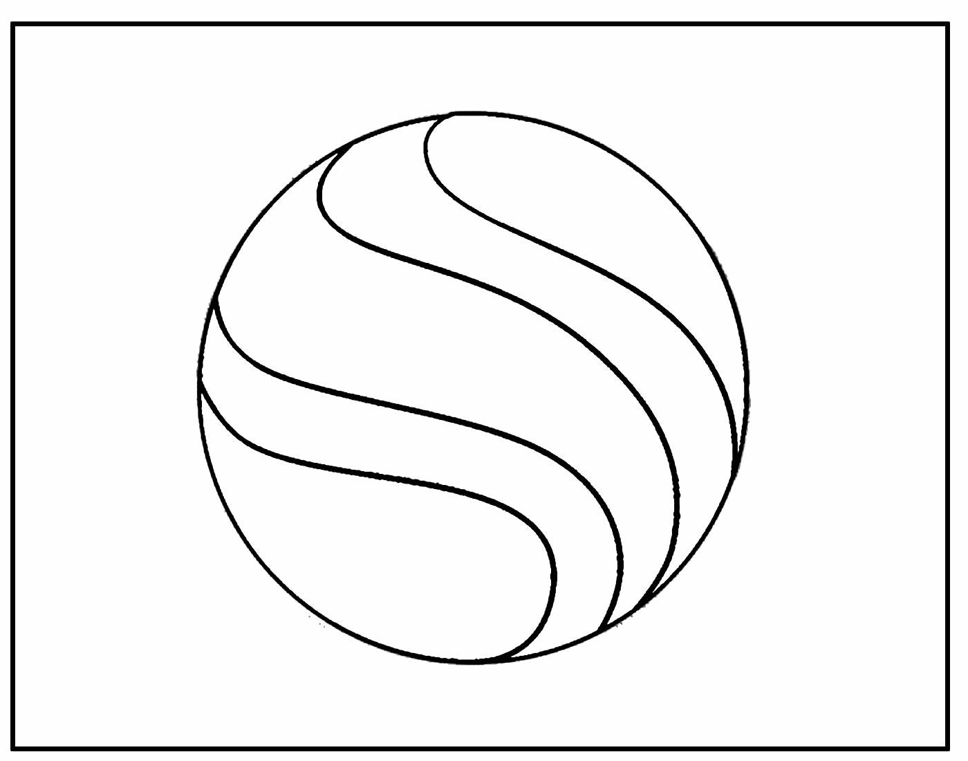 Desenho de Bola para colorir