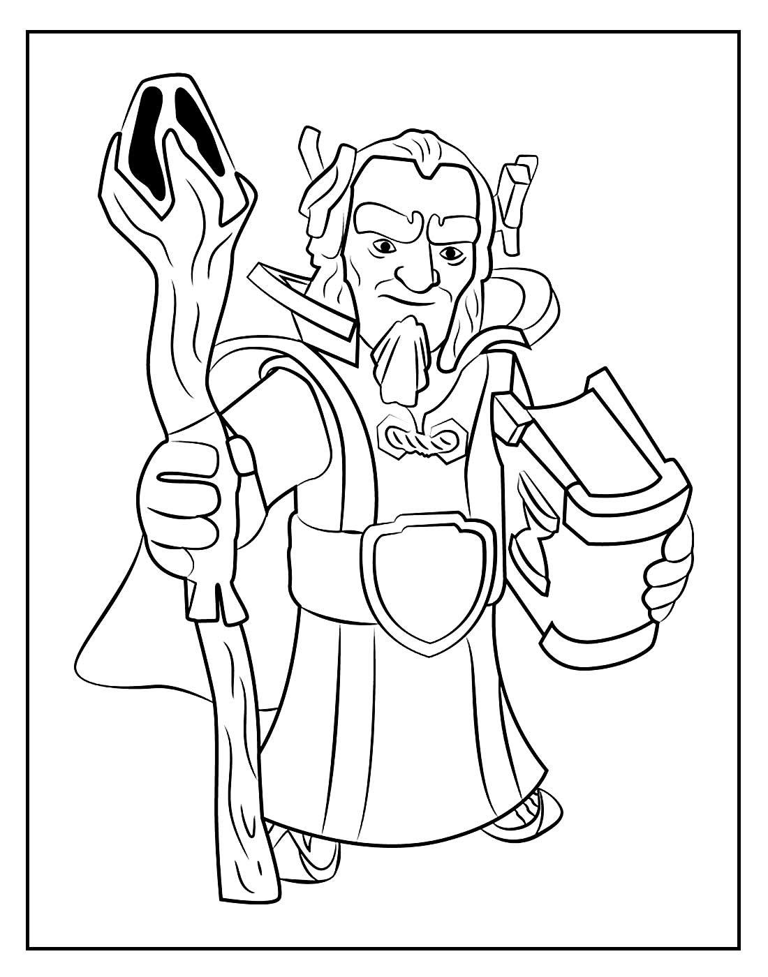 Desenho para colorir do Grande Guardião - Clash of Clans