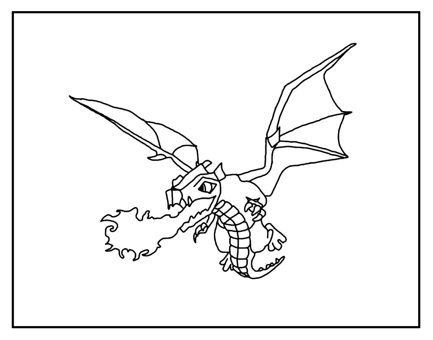 Desenho para colorir de Dragão - Clash of Clans