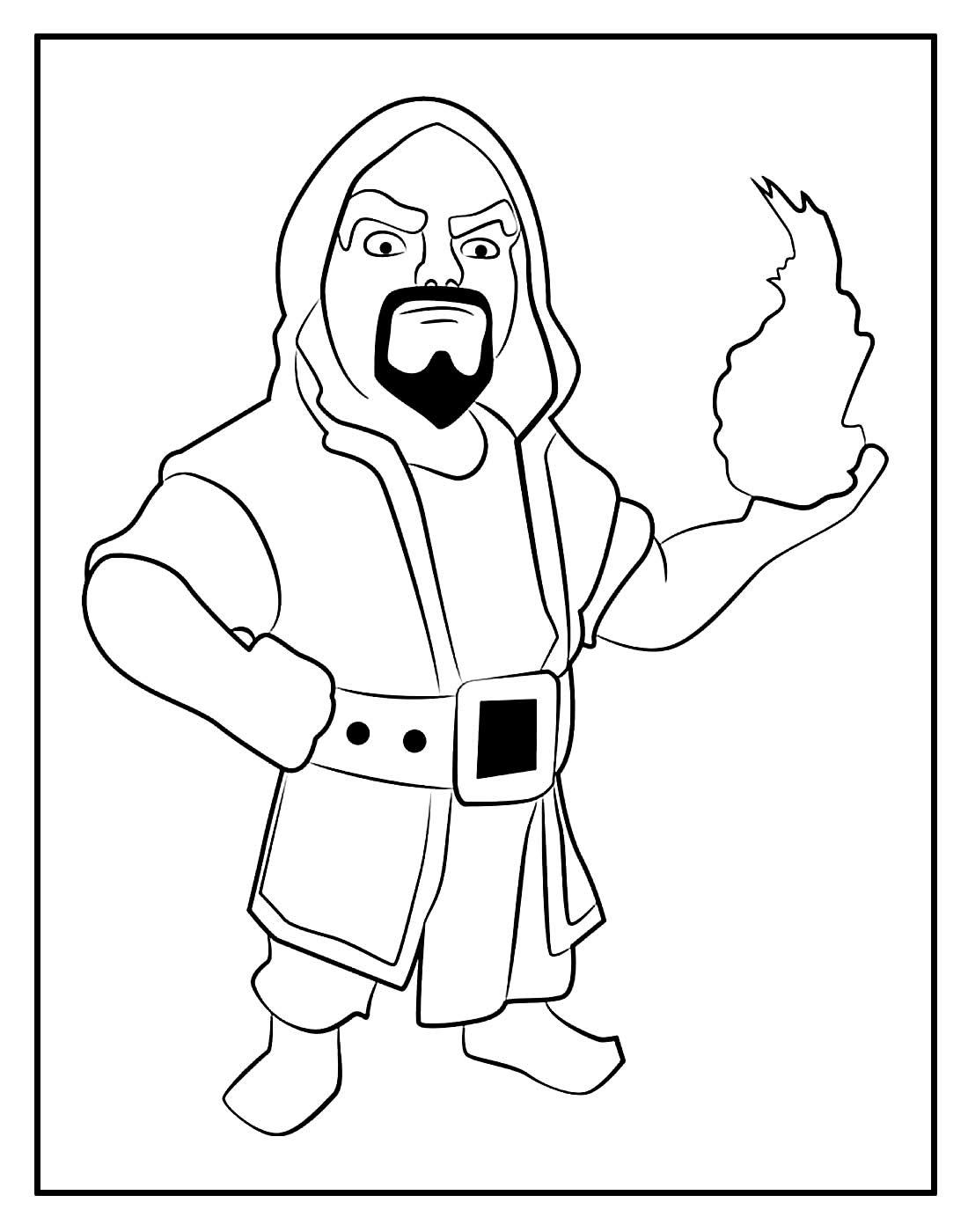 Desenho para colorir de Mago - Clash of Clans