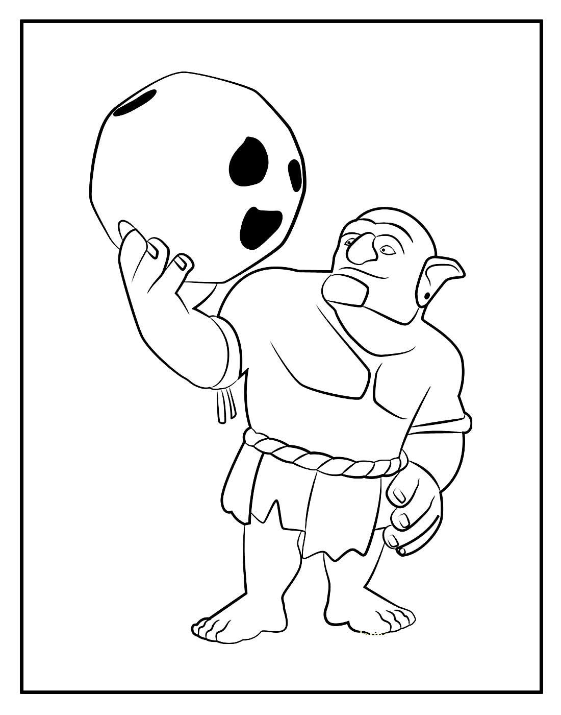 Desenho para colorir de Lançador - Clash of Clans