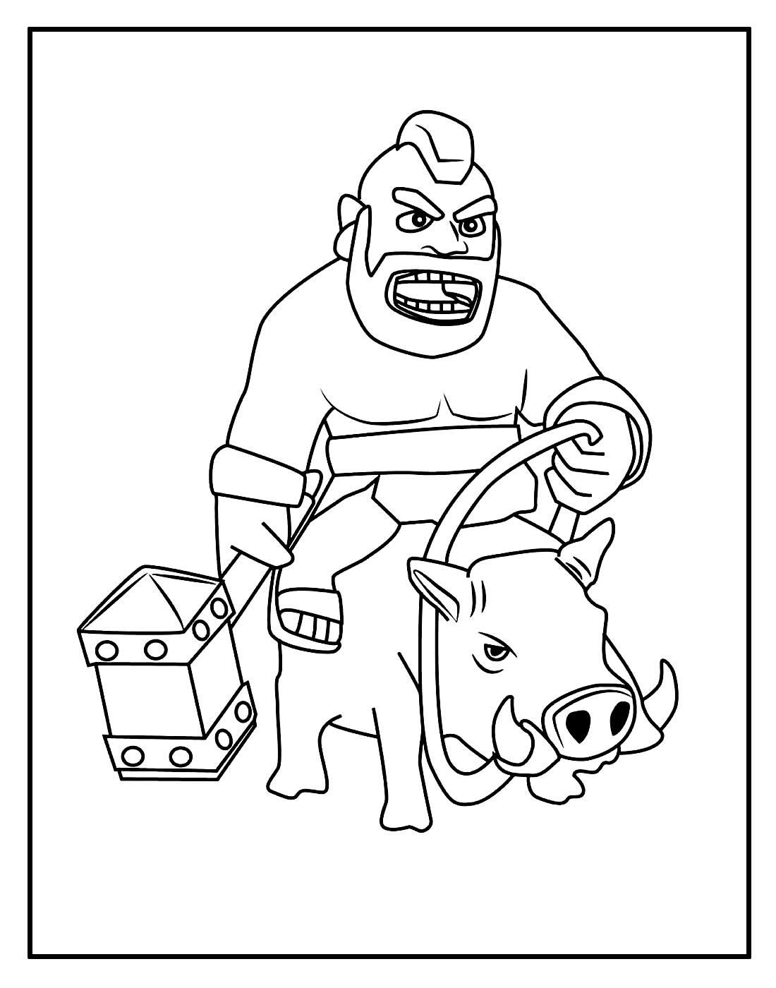 Desenho de Clash of Clans