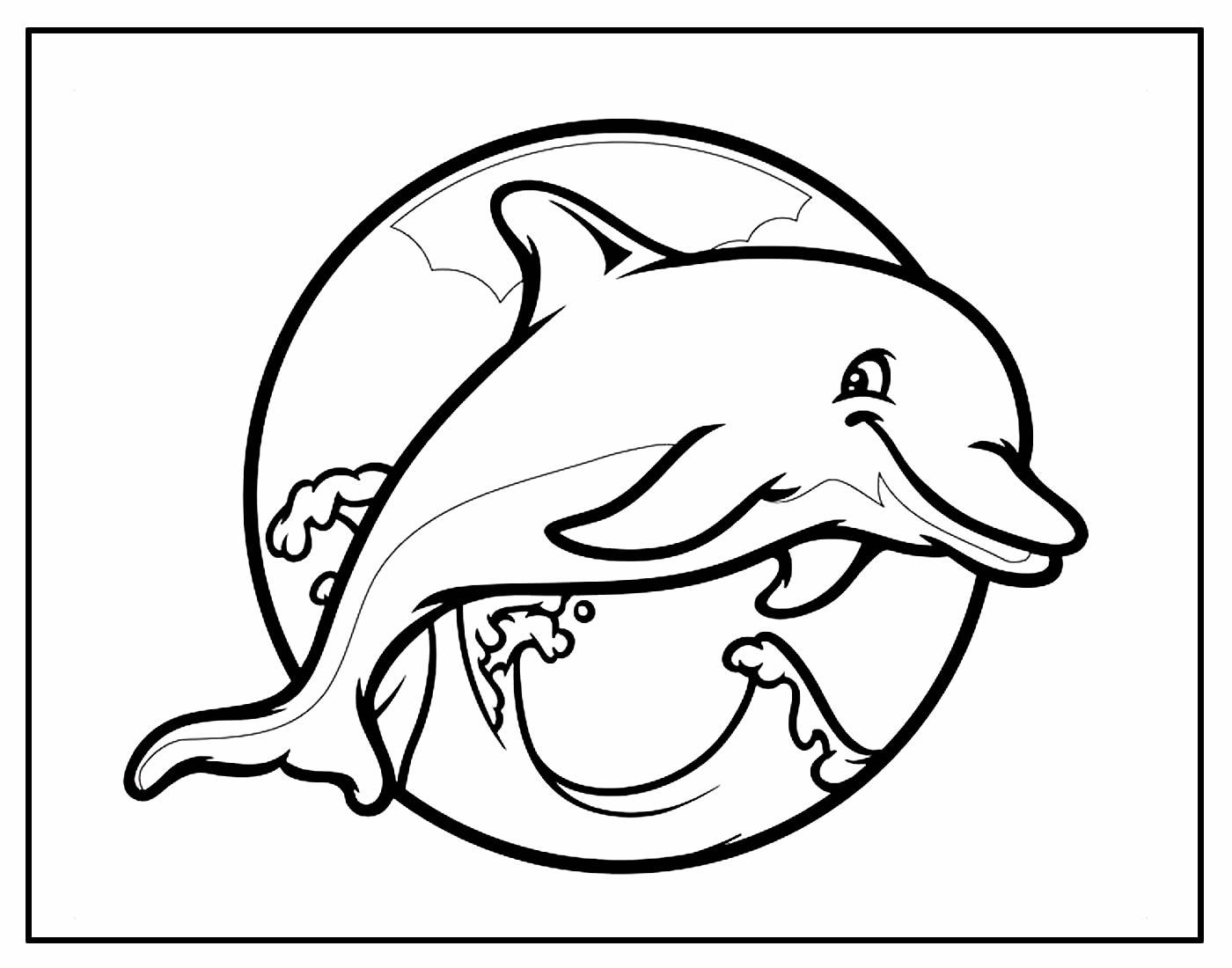 Desenho para colorir de Golfinho