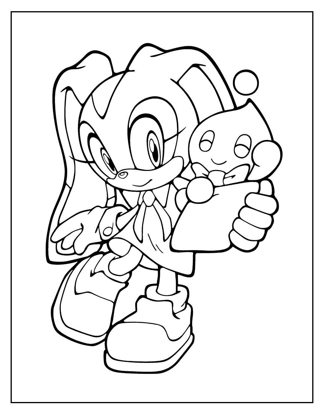 Desenho para colorir de Sonic
