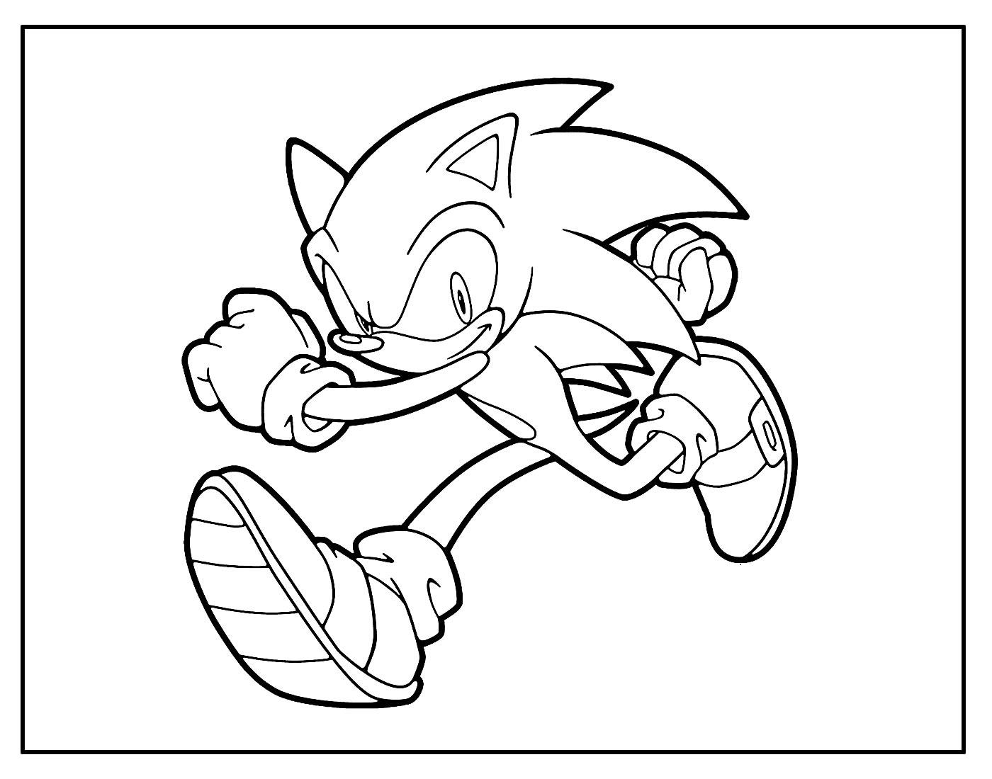 Desenho para pintar de Sonic