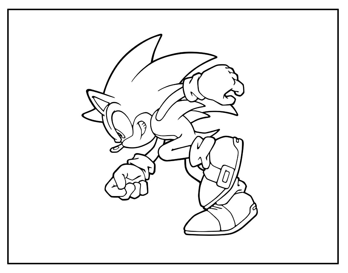 Página para colorir Sonic