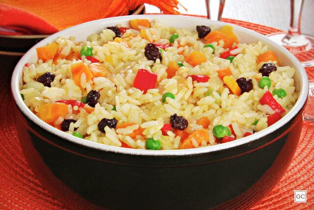 como fazer arroz a grega