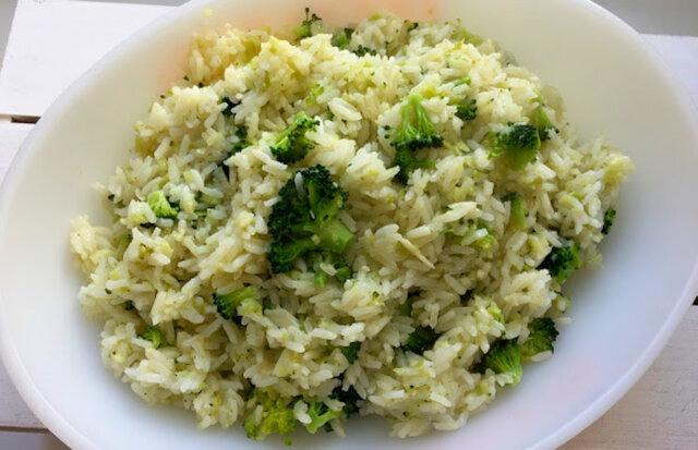 como fazer arroz com brócolis