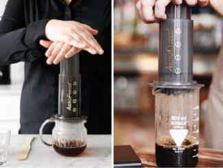 como fazer café na aeropress
