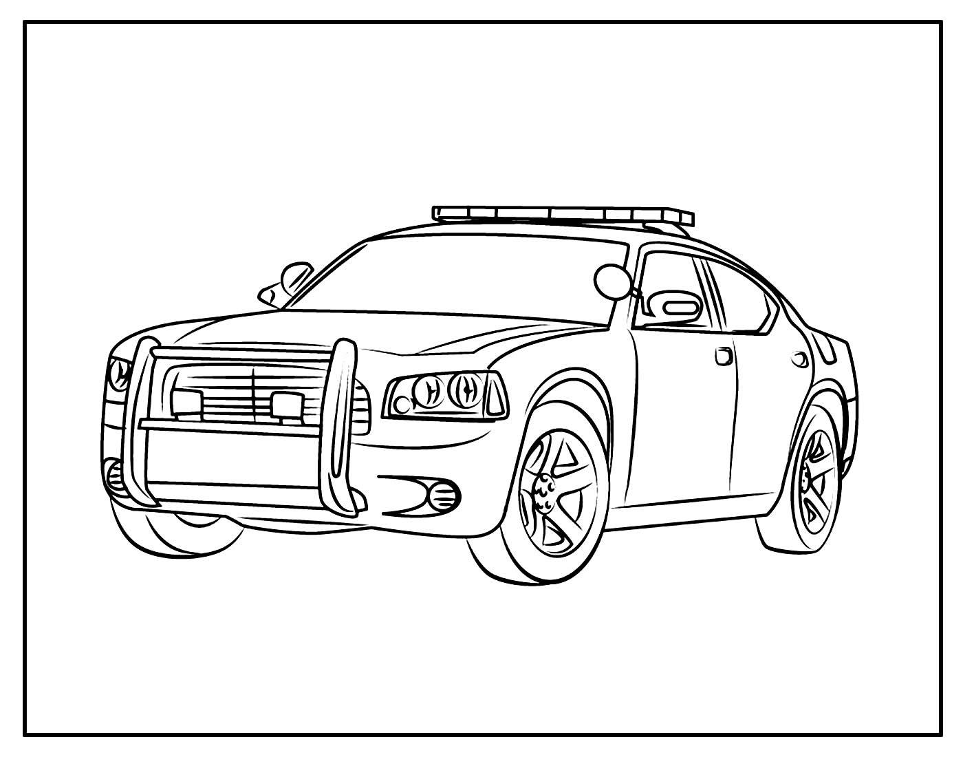 Página para colorir e pintar de Carro