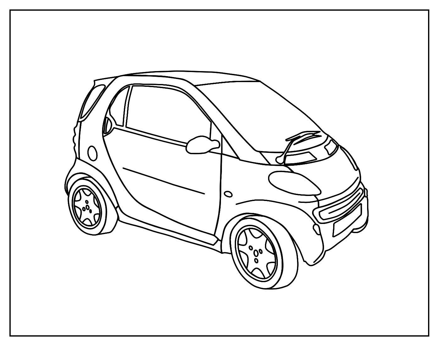 Desenho para pintar de Carro