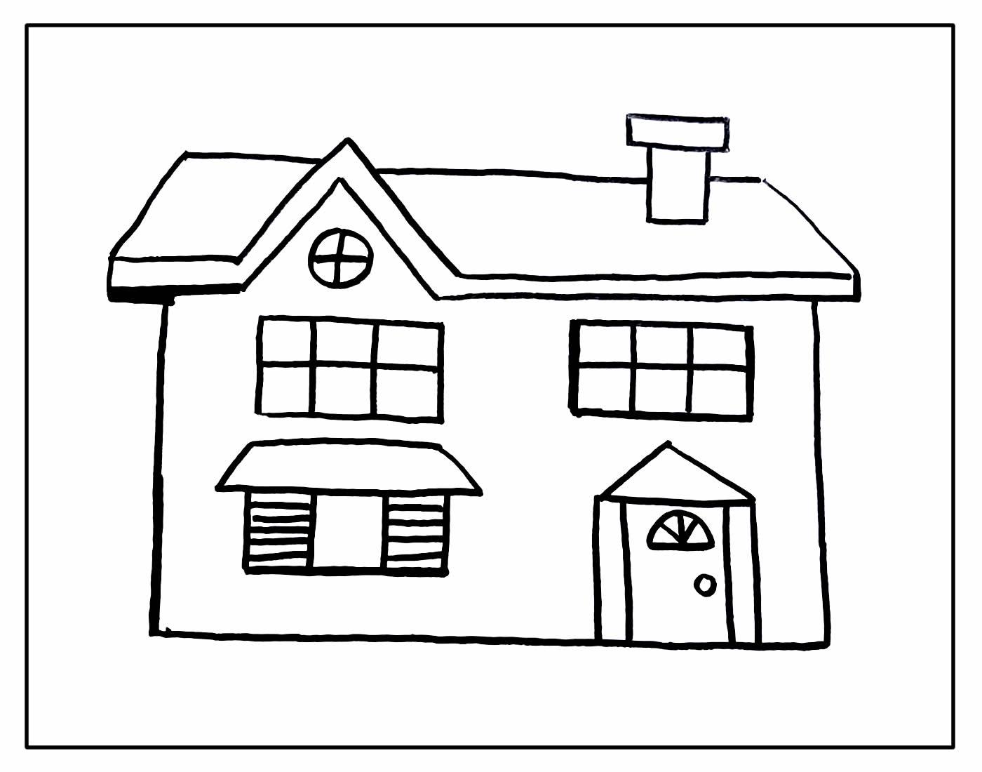 Lindos desenhos para colorir de Casa