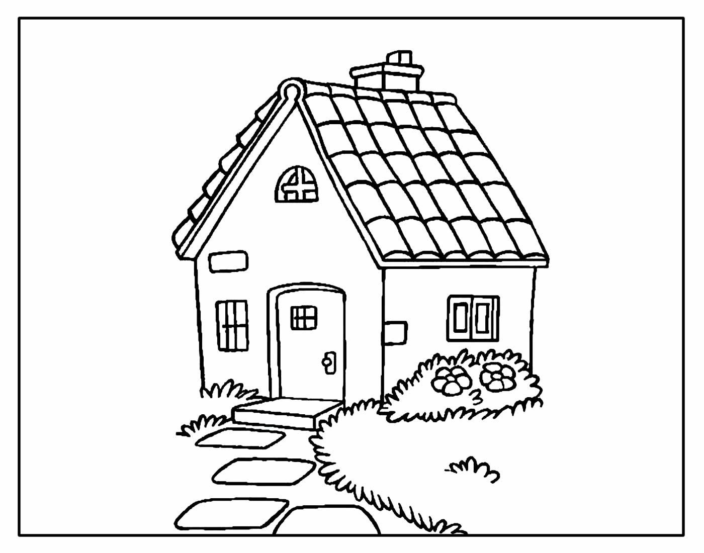 Página para colorir de Casa