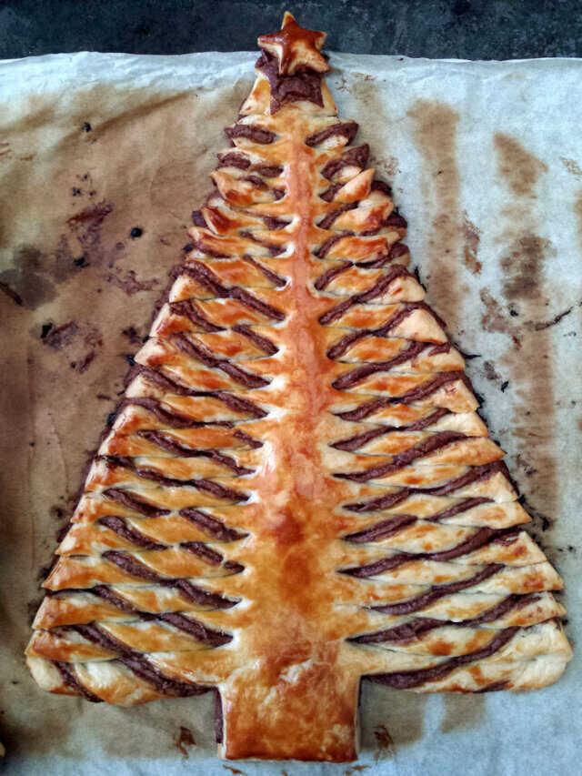 pão de árvore de natal