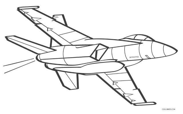 desenho de avião para colorir