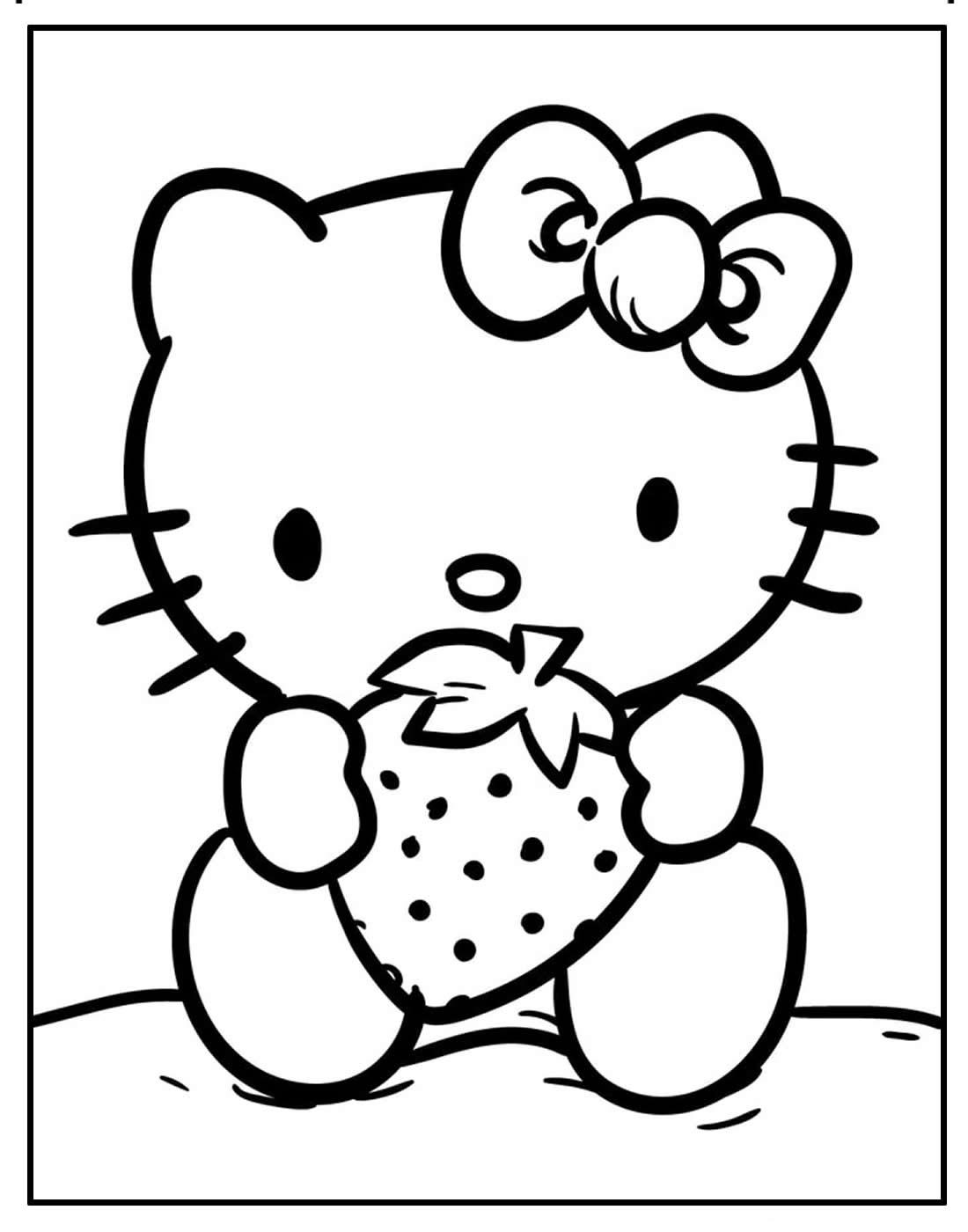 Desenho de Hello Kitty para colorir