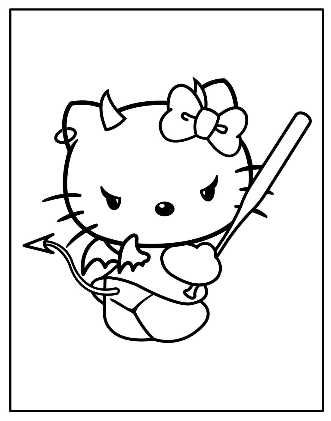 Desenho de Hello Kitty para pintar