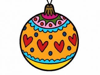 desenhos de bola de natal